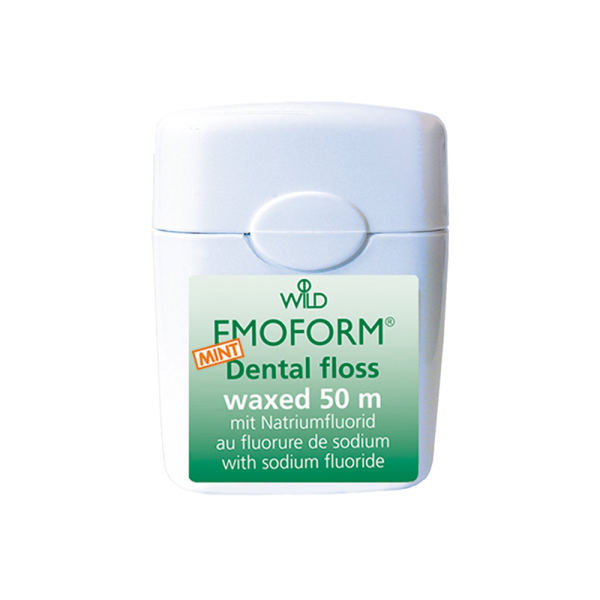 WILD Emoform Dental Floss Zahnseide: mint, gewachst, 50 m