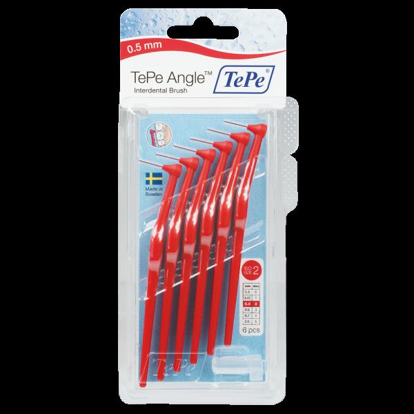 TePe Angle Interdentalbürste: rot / 0.5 mm / 6 Stück