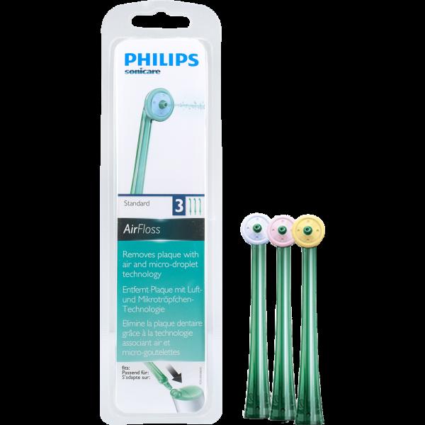PHILIPS Sonicare Ersatzdüsen für AirFloss 2. Generation: grün, 3 Stück