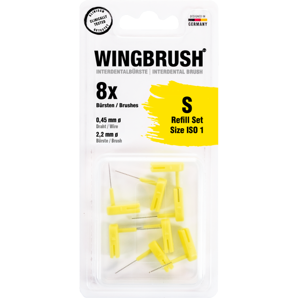 Wingbrush Aufsteckbürsten Refill: gelb, Ø 2,2 mm, S