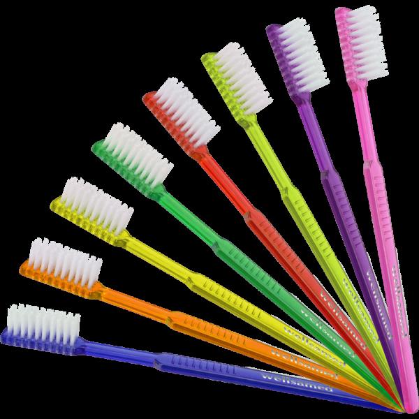 wellsabrush Einweg-Zahnbürsten: gemischte Farben