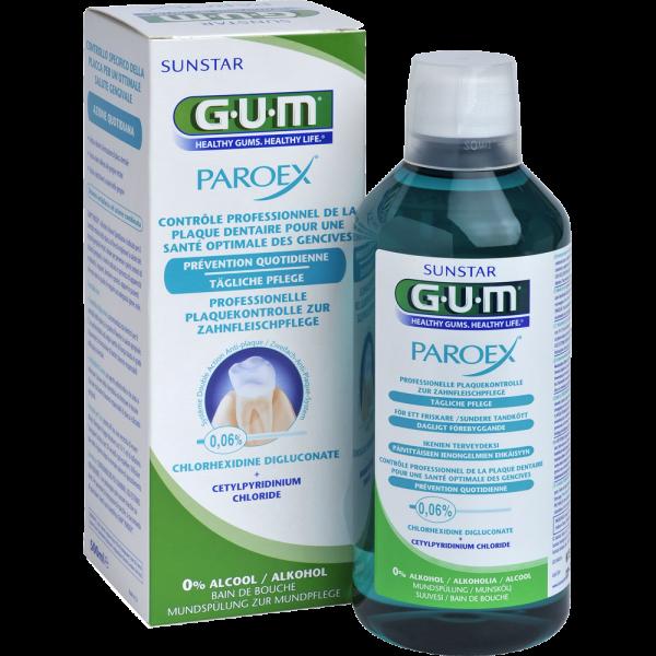 GUM Paroex Mundspülung: 0,06% CHX, 500 ml Flasche