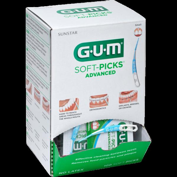 GUM Soft-Picks Advenced Spenderbox: Klein,100 x 1 Stück