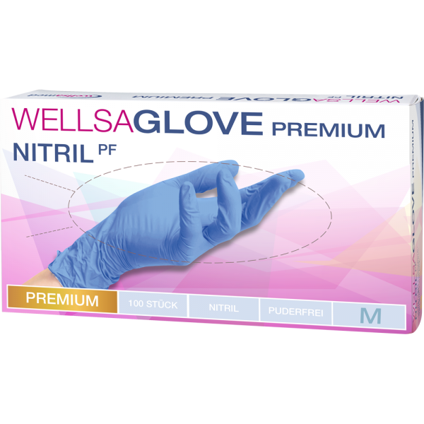 wellsaglove Untersuchungshandschuhe Premium Nitril: medium