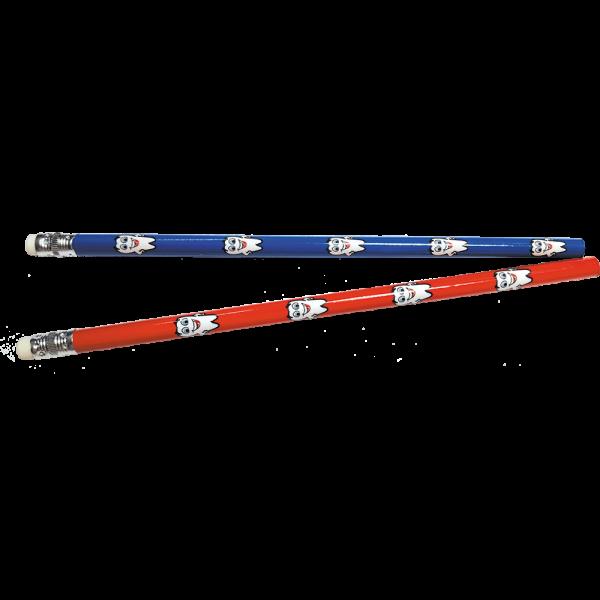 Mirus Mix Bleistifte: Blau mit Radiertop